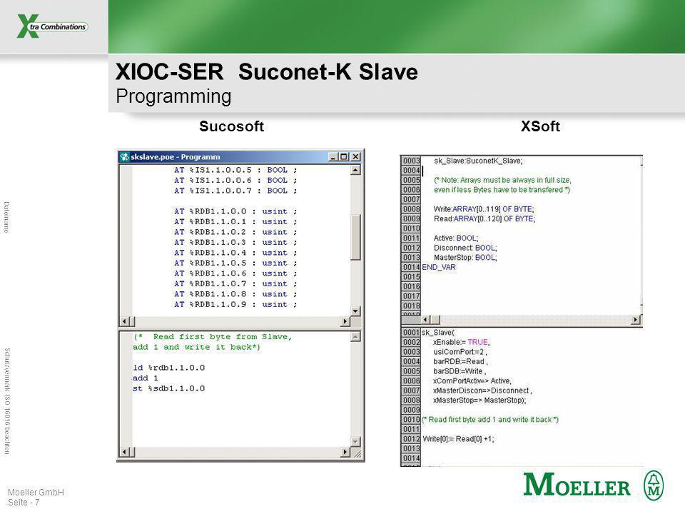 XIOC-SER Suconet-K Slave Programming