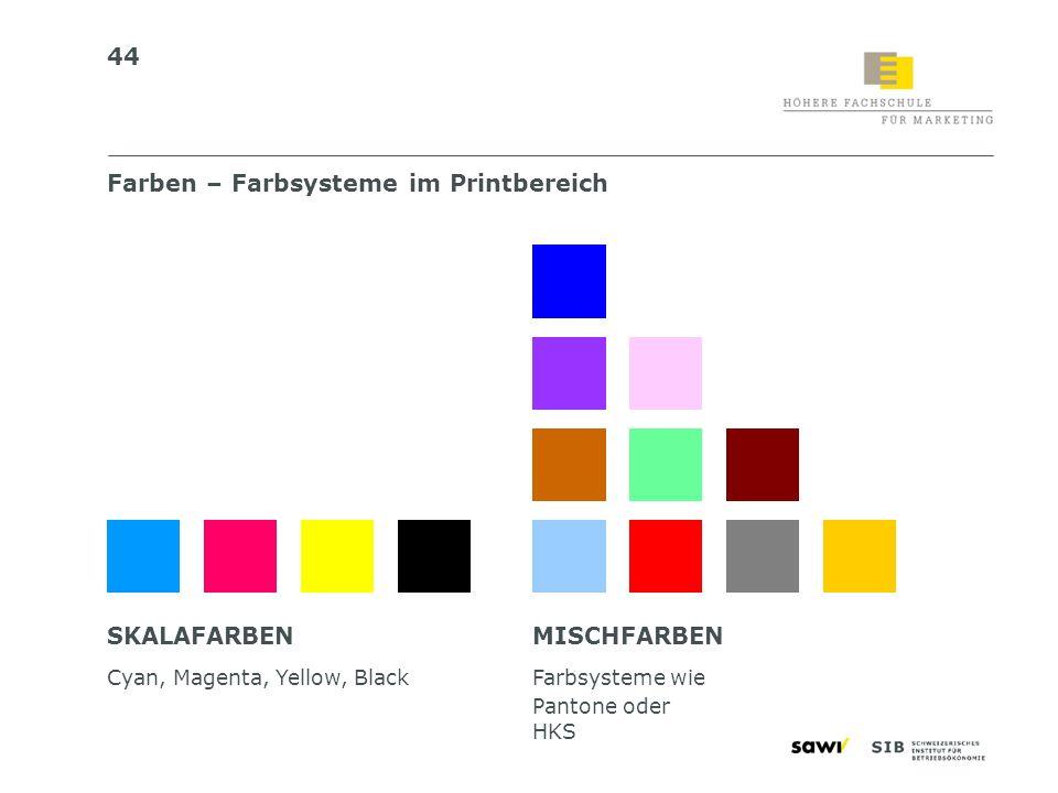 Farben – Farbsysteme im Printbereich