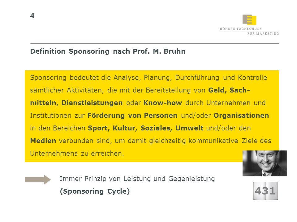 431 Definition Sponsoring nach Prof. M. Bruhn