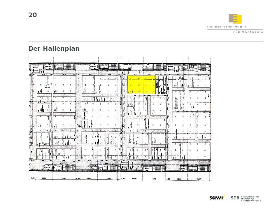 Der Hallenplan 20