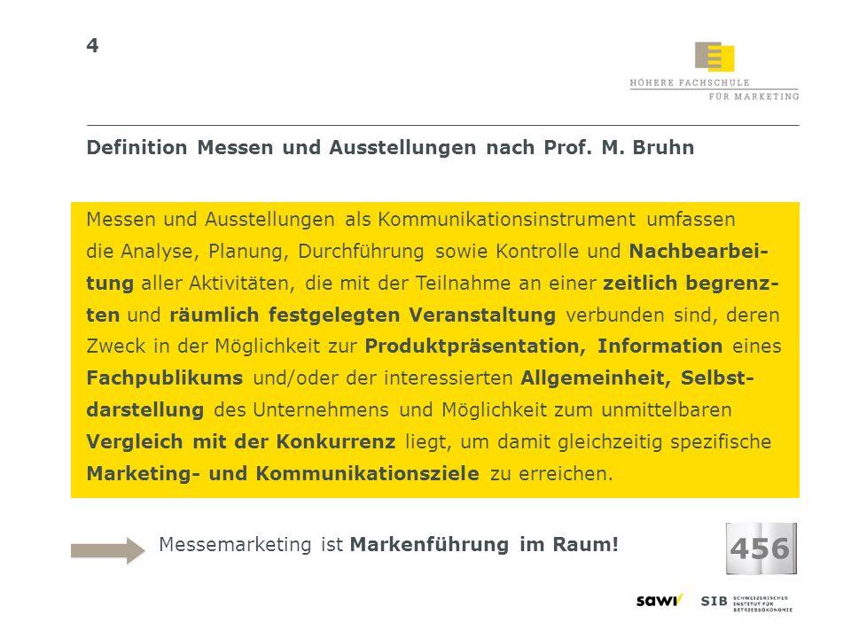 456 Definition Messen und Ausstellungen nach Prof. M. Bruhn