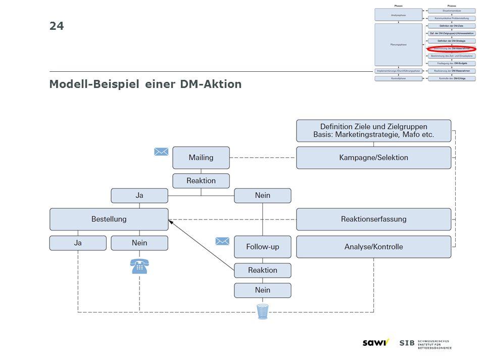Modell-Beispiel einer DM-Aktion