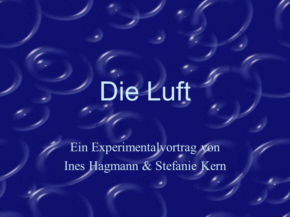 Ein Experimentalvortrag von Ines Hagmann & Stefanie Kern