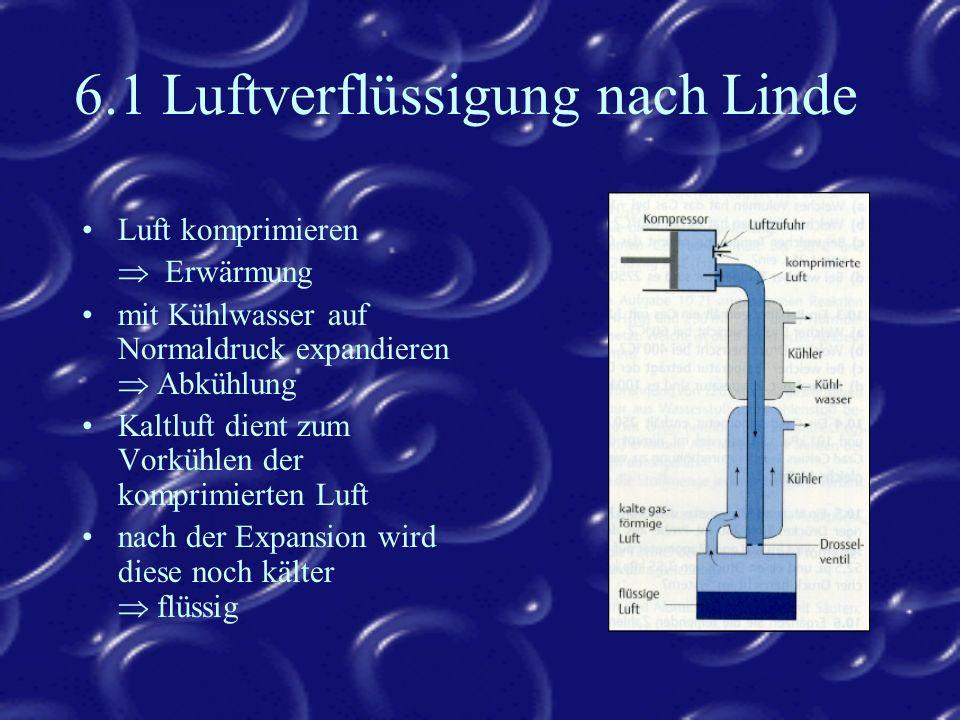 6.1 Luftverflüssigung nach Linde