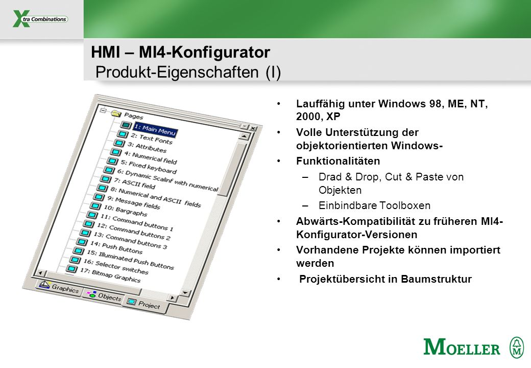 HMI – MI4-Konfigurator Produkt-Eigenschaften (I)
