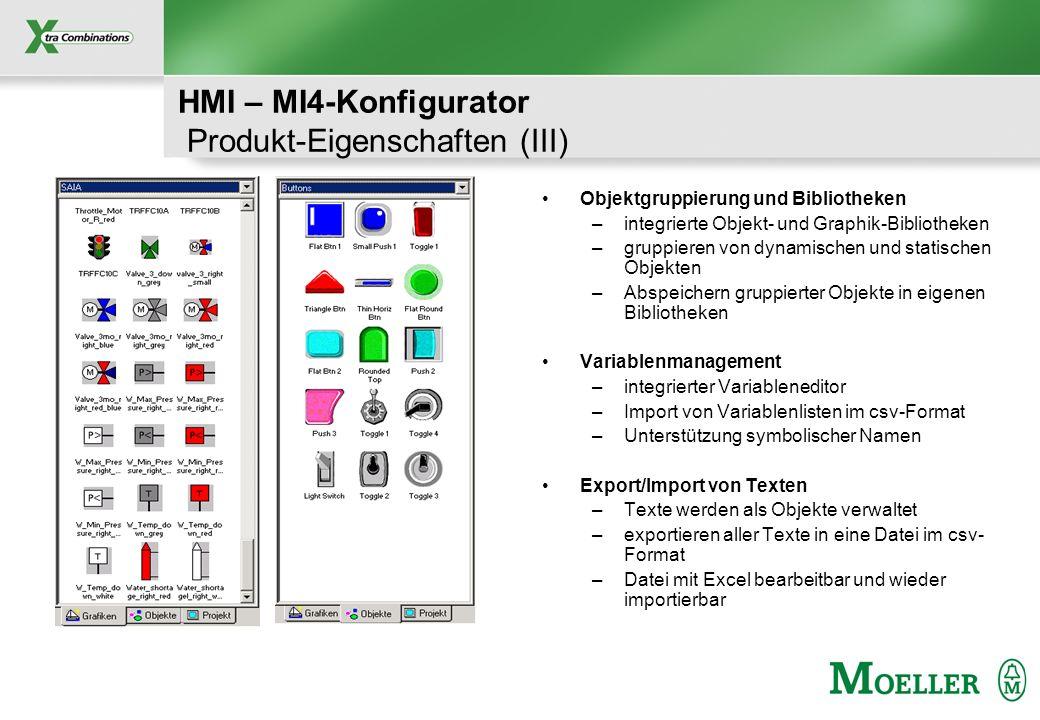 HMI – MI4-Konfigurator Produkt-Eigenschaften (III)