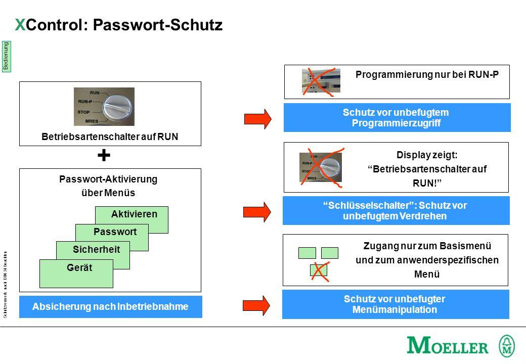 XControl: Passwort-Schutz