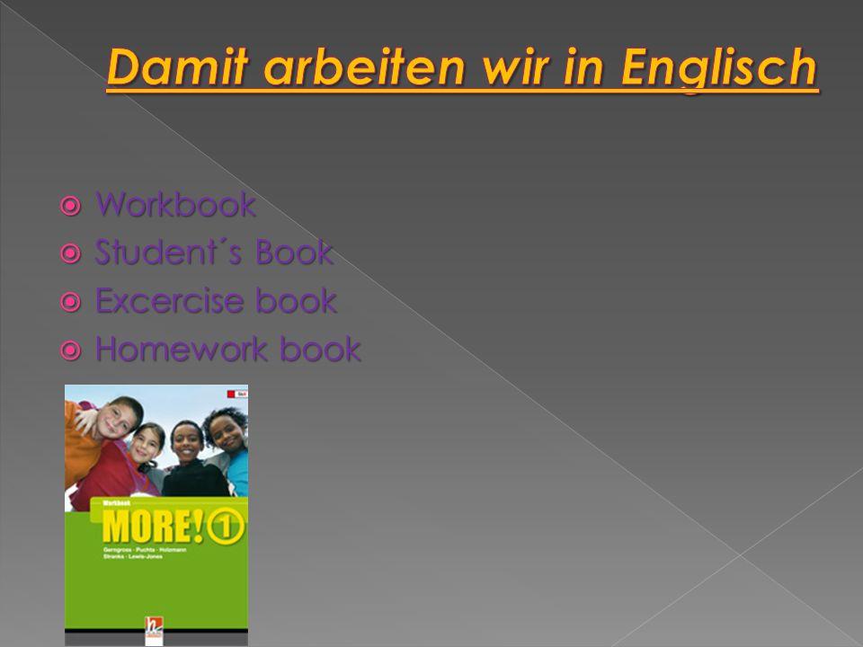 Damit arbeiten wir in Englisch