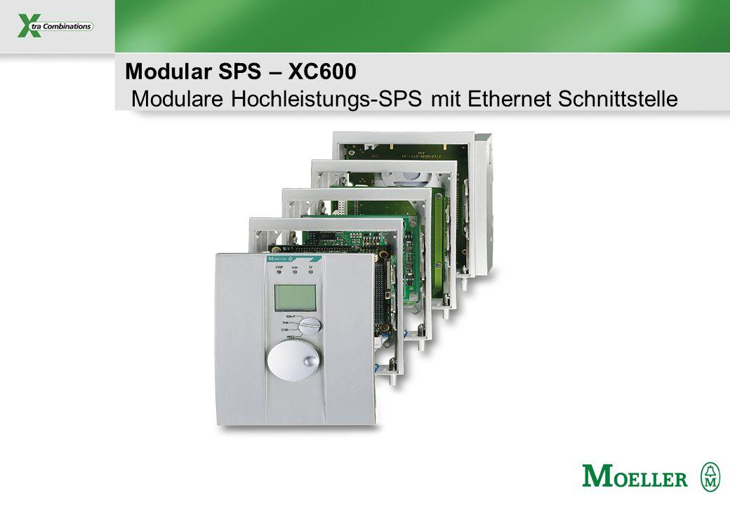 Modular SPS – XC600 Modulare Hochleistungs-SPS mit Ethernet Schnittstelle