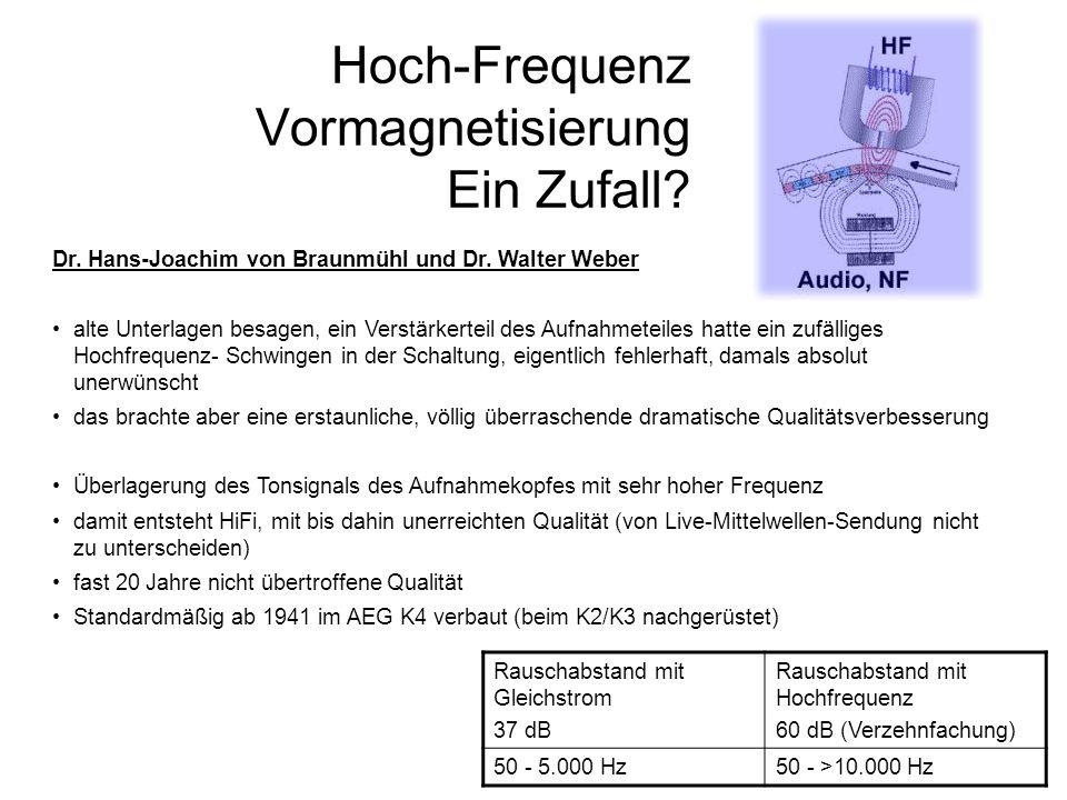 Hoch-Frequenz Vormagnetisierung Ein Zufall
