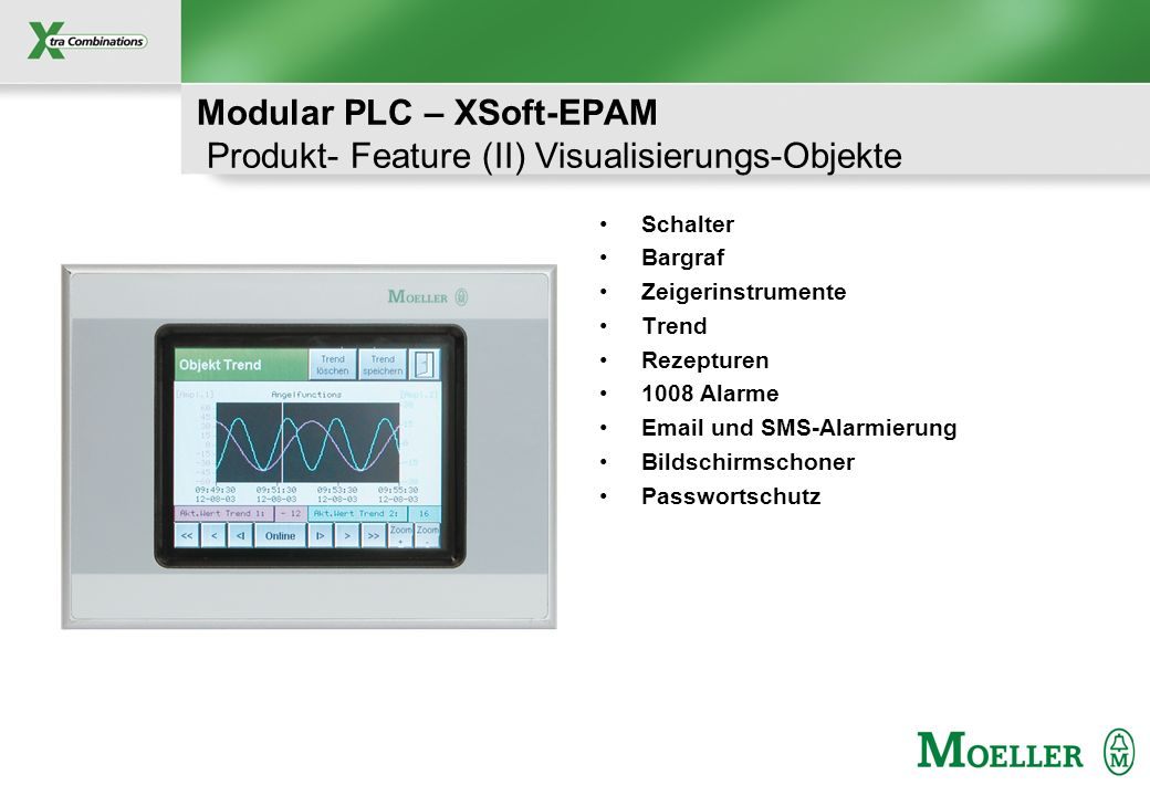 Modular PLC – XSoft-EPAM Produkt- Feature (II) Visualisierungs-Objekte