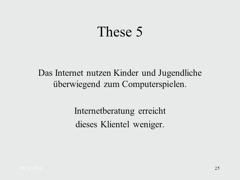 These 5 Das Internet nutzen Kinder und Jugendliche überwiegend zum Computerspielen. Internetberatung erreicht.