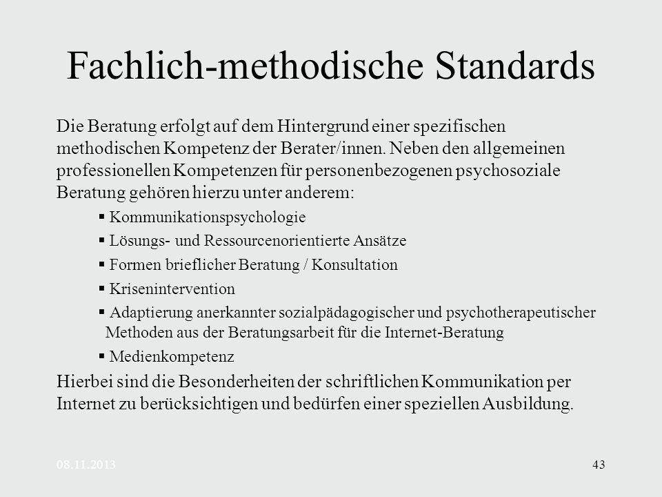 Fachlich-methodische Standards