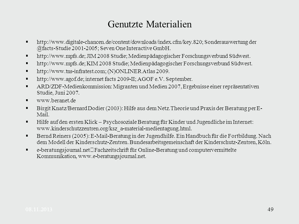 Genutzte Materialien