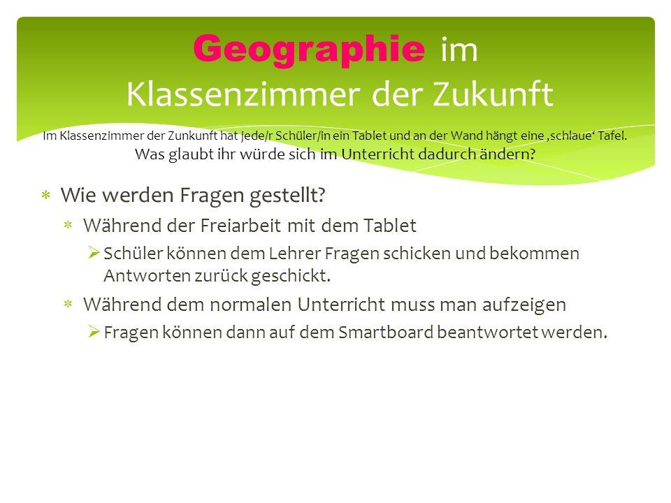 Geographie im Klassenzimmer der Zukunft