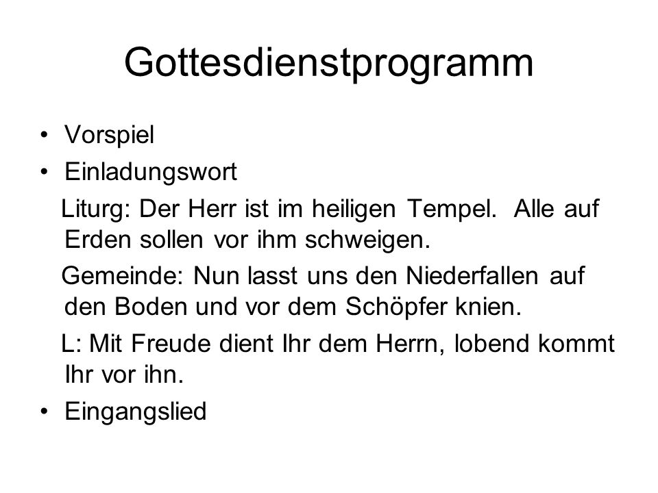 Gottesdienstprogramm