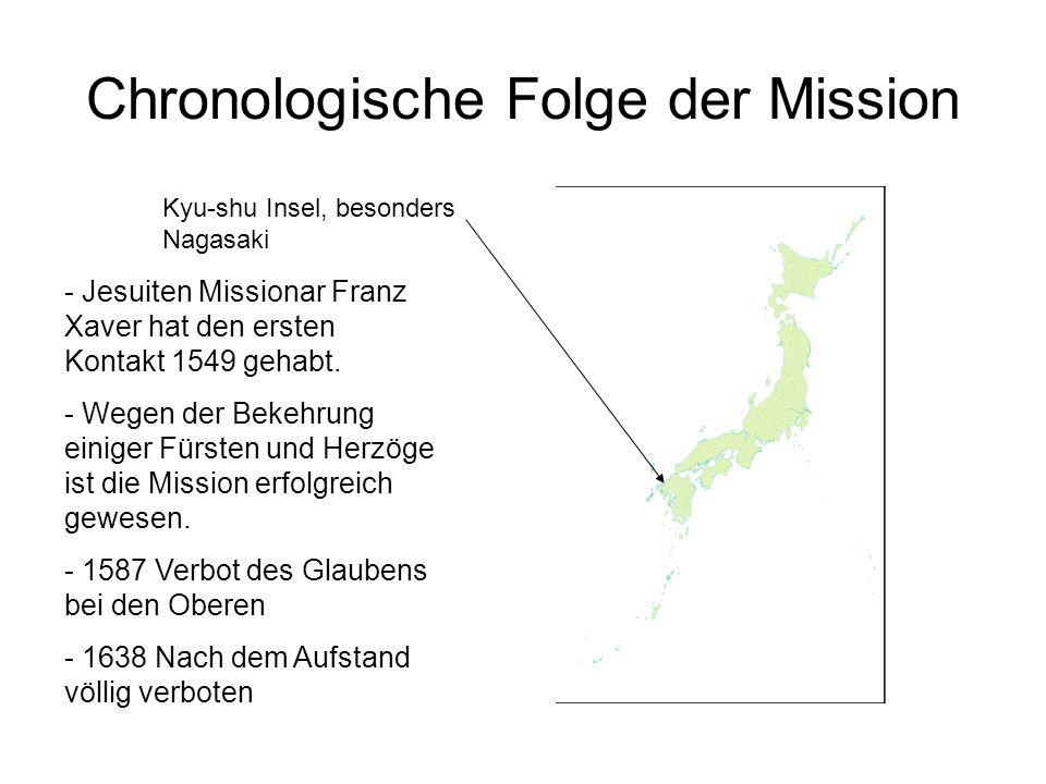 Chronologische Folge der Mission
