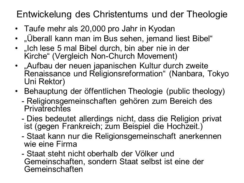 Entwickelung des Christentums und der Theologie