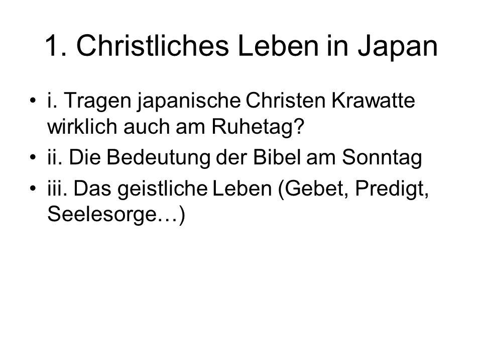 1. Christliches Leben in Japan