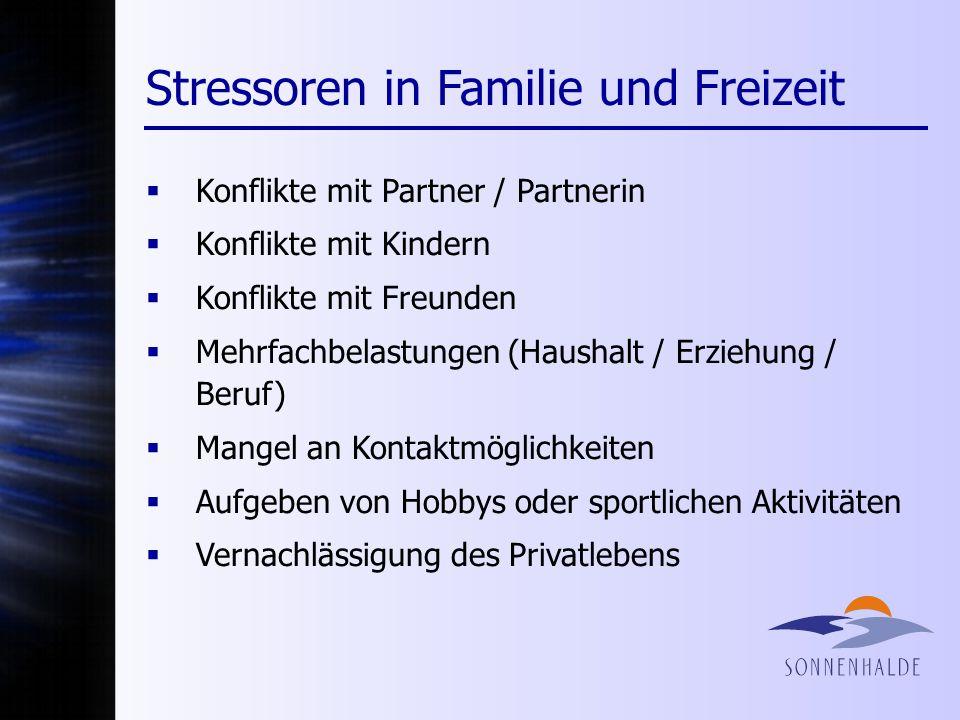 Stressoren in Familie und Freizeit