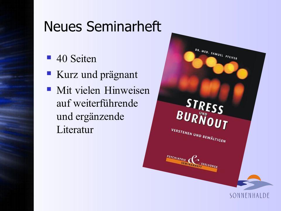 Neues Seminarheft 40 Seiten Kurz und prägnant