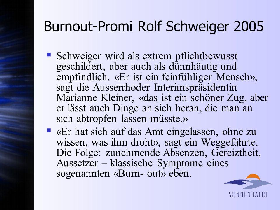 Burnout-Promi Rolf Schweiger 2005