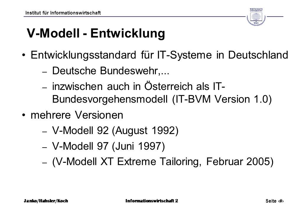 V-Modell - Entwicklung