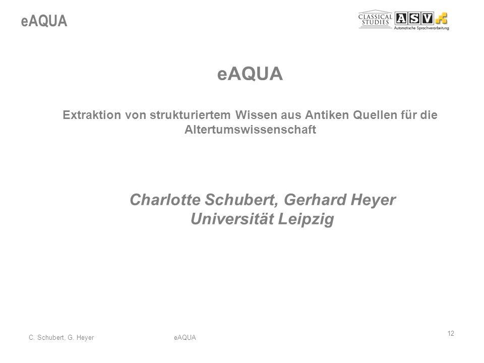 Charlotte Schubert, Gerhard Heyer Universität Leipzig