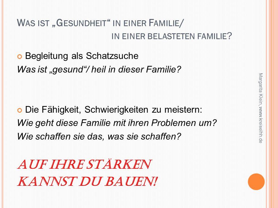 """Was ist """"Gesundheit in einer Familie/ in einer belasteten familie"""