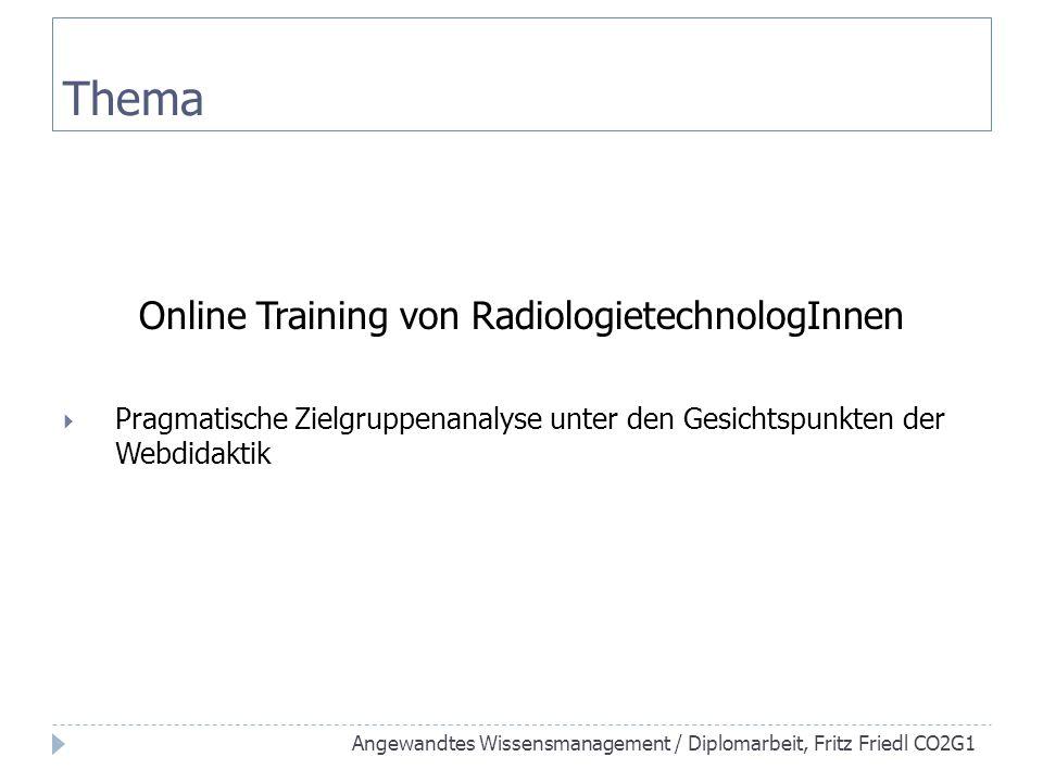 Online Training von RadiologietechnologInnen