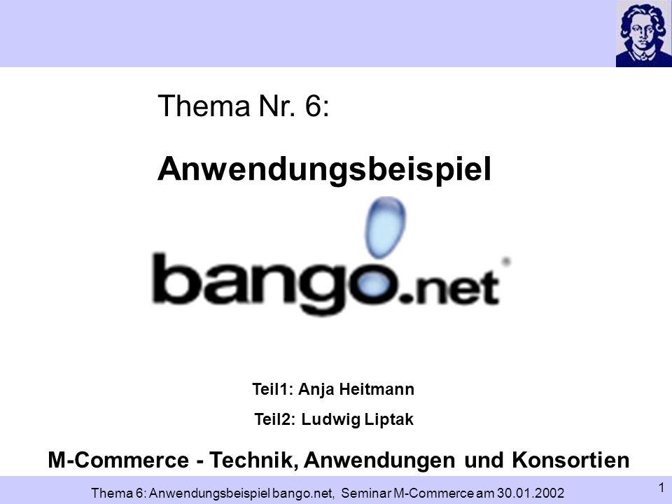 M-Commerce - Technik, Anwendungen und Konsortien