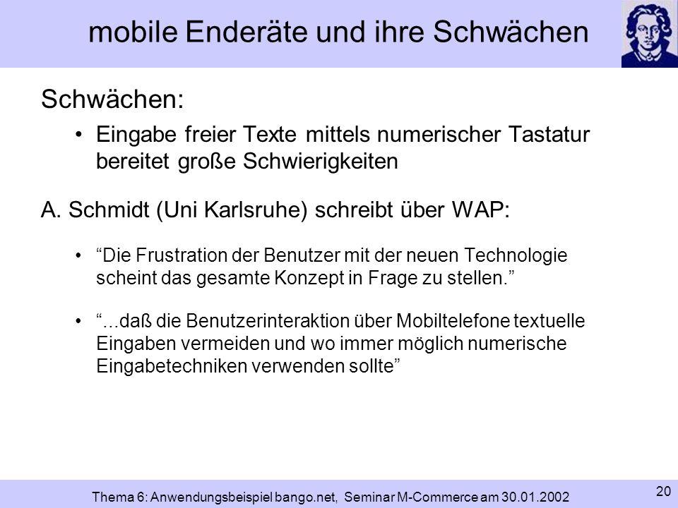 mobile Enderäte und ihre Schwächen