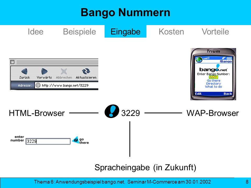 Bango Nummern Idee Beispiele Eingabe Kosten Vorteile HTML-Browser 3229