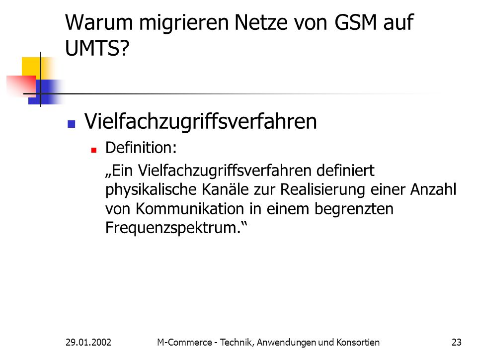 Warum migrieren Netze von GSM auf UMTS