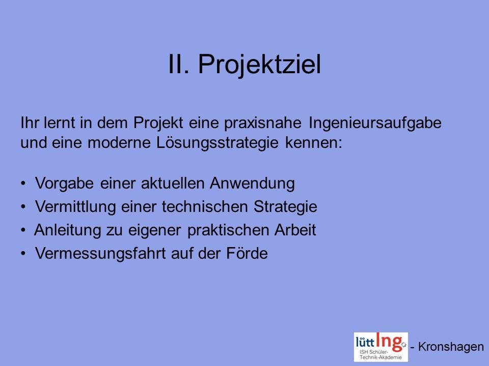 II. Projektziel Ihr lernt in dem Projekt eine praxisnahe Ingenieursaufgabe und eine moderne Lösungsstrategie kennen: