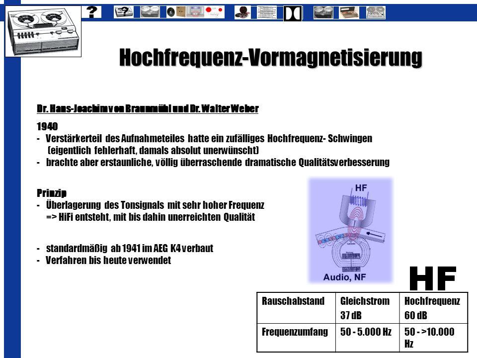 Hochfrequenz-Vormagnetisierung