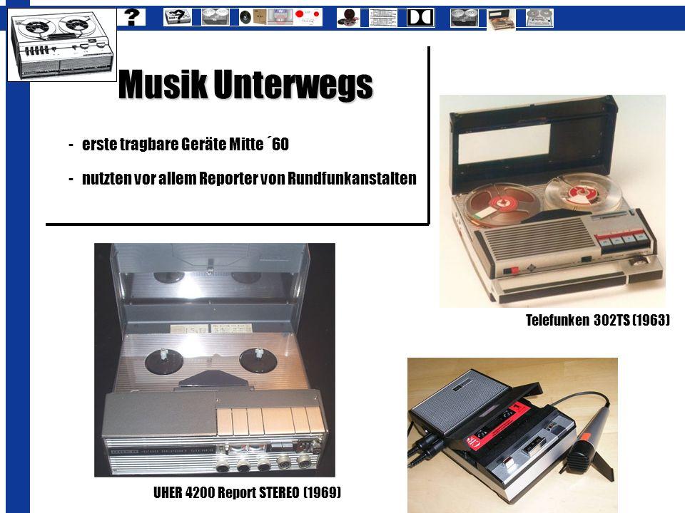 Musik Unterwegs erste tragbare Geräte Mitte ´60