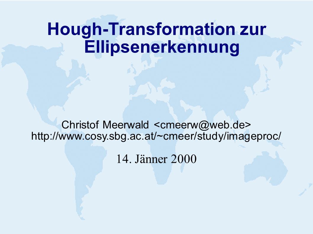 Hough-Transformation zur Ellipsenerkennung