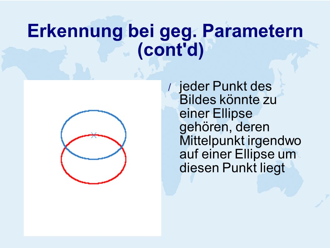 Erkennung bei geg. Parametern (cont d)