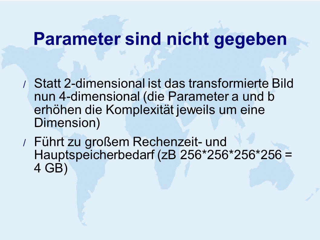 Parameter sind nicht gegeben