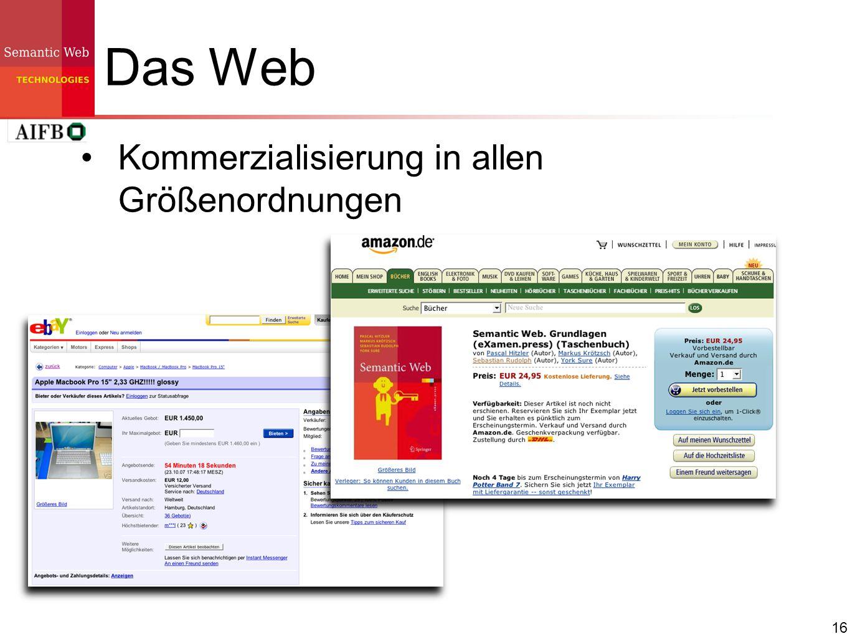 Das Web Kommerzialisierung in allen Größenordnungen