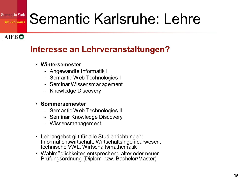 Semantic Karlsruhe: Lehre