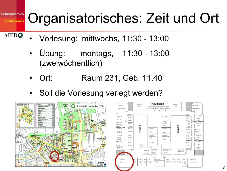 Organisatorisches: Zeit und Ort