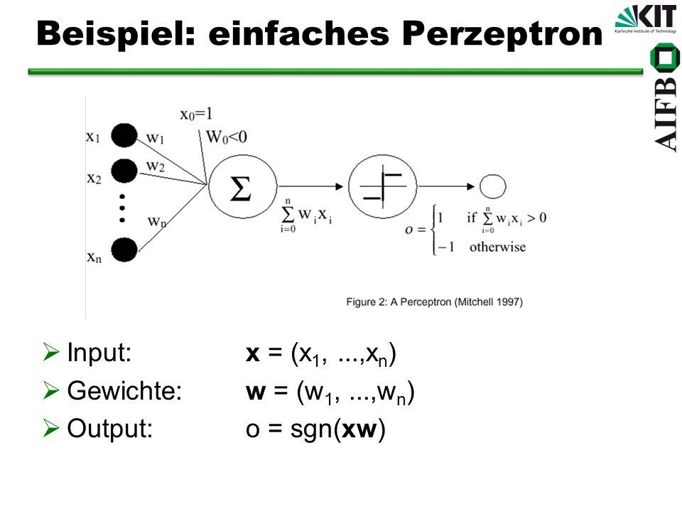 Beispiel: einfaches Perzeptron