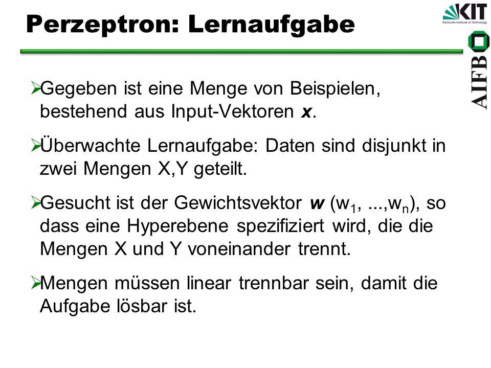 Perzeptron: Lernaufgabe