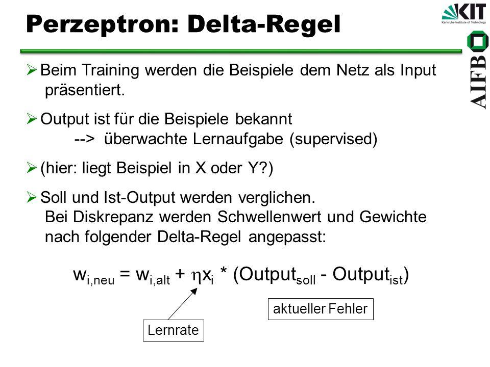 Perzeptron: Delta-Regel