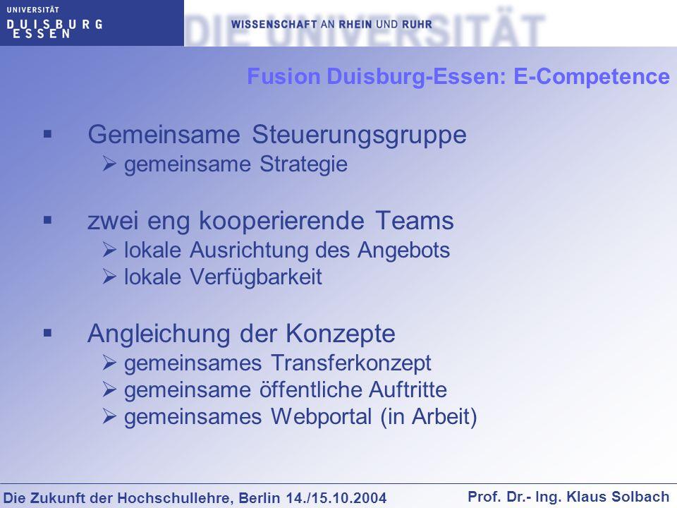 Fusion Duisburg-Essen: E-Competence