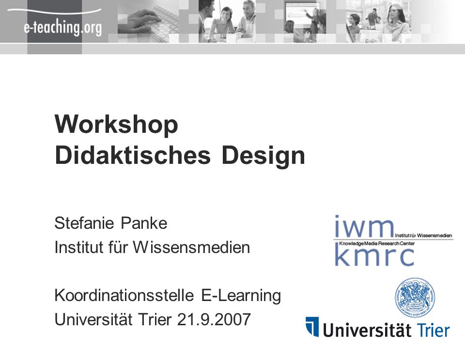 Workshop Didaktisches Design