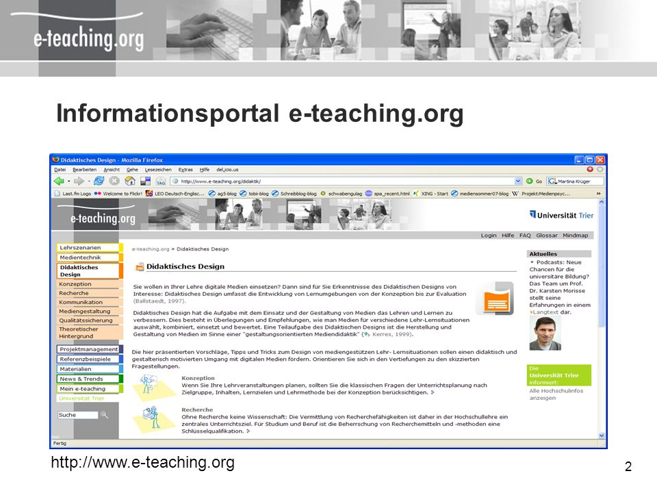 Informationsportal e-teaching.org