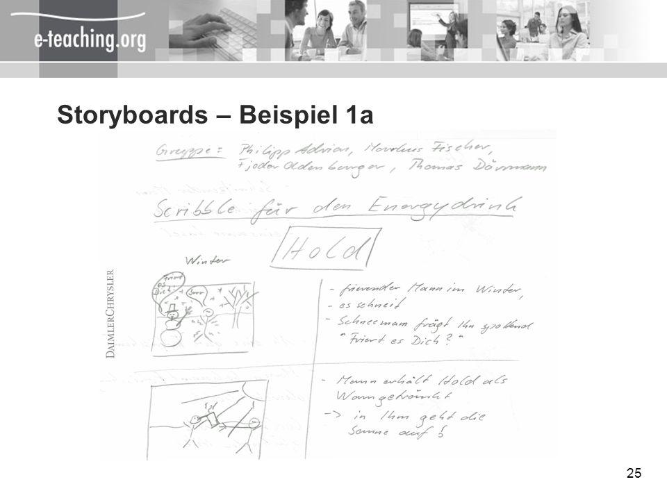 Storyboards – Beispiel 1a